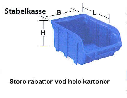 stabelkasser i plast